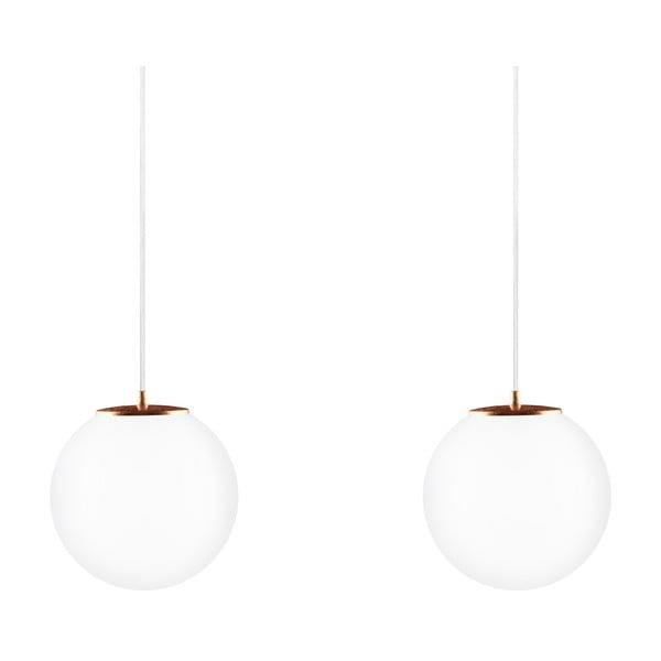 Dvojité světlo Tsuki M Elementary, matná opálová/měděná/bílá/bílá