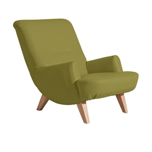 Zelené koženkové křeslo Max Winzer Brandford