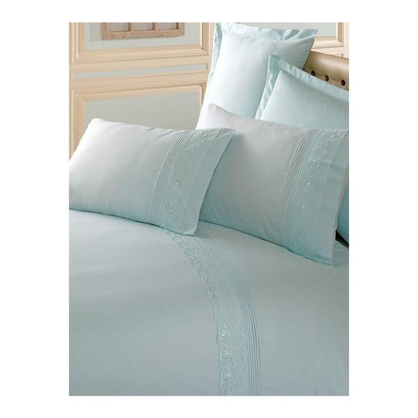 Lenjerie de pat cu cearșaf din bumbac Brode, 200 x 220 cm