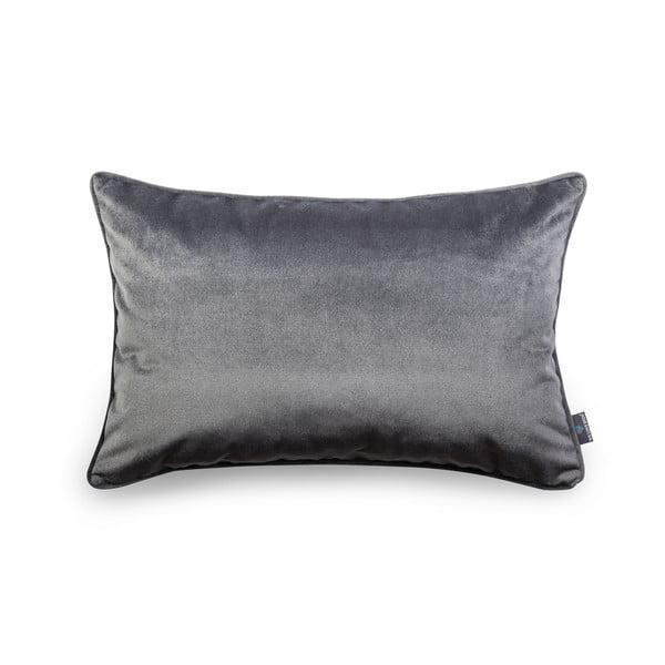 Sivá obliečka na vankúš WeLoveBeds Dark, 40 × 60 cm