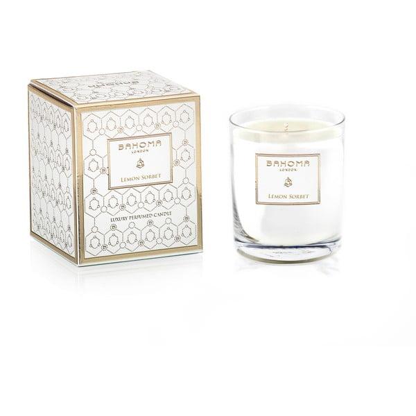 Vonná sviečka v skle s vôňou citrónového sorbetu Bahoma London, 75 hodín horenia