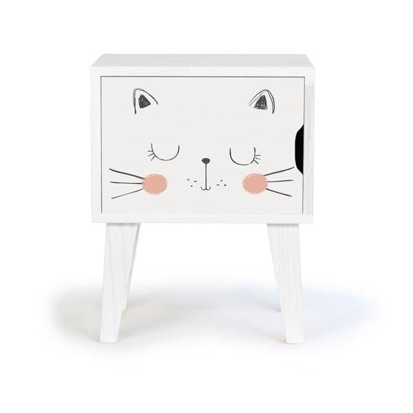 Dětský noční stolek zborovicového dřeva Little Nice Things Catto