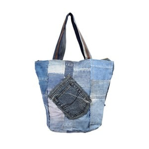 Taška Blue and White Recycled Denim