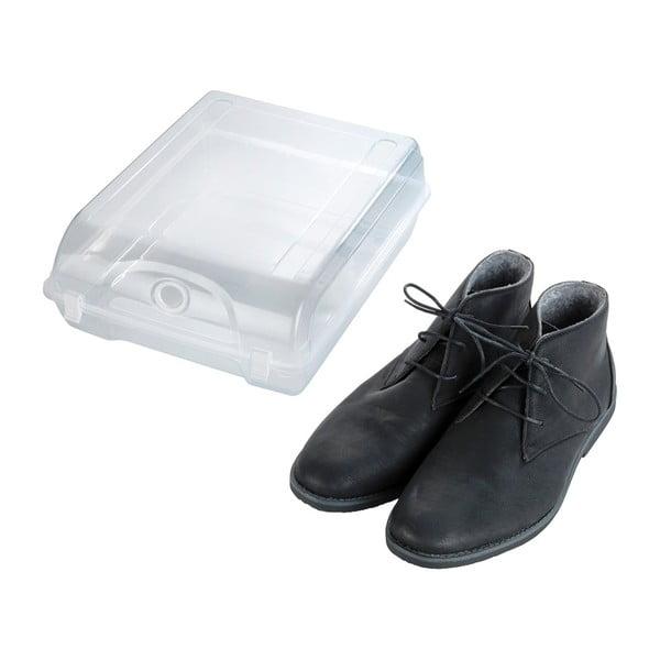 Przezroczysty pojemnik na buty Wenko Smart, szer. 29 cm