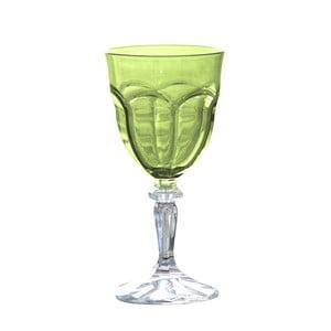 Sada 6 zelených plastových sklenic na víno Sunvibes Happy, 250ml