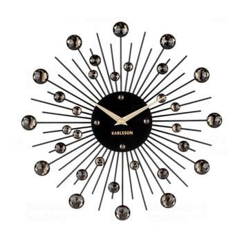 Ceas de perete Karlsson Sunburst, negru de la Karlsson
