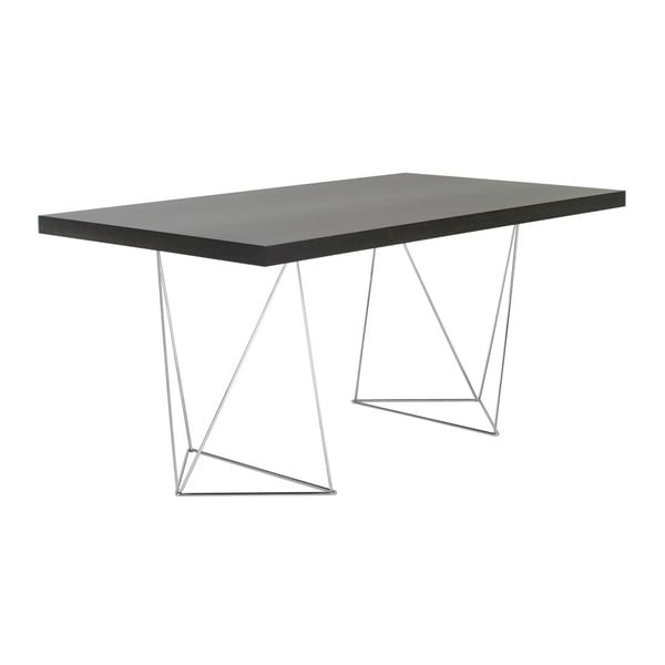 Tmavě hnědý stůl TemaHome Multi, 160 cm