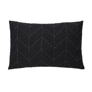 Černý prošívaný povlak na polštář A Simple Mess Molly, 60x40cm