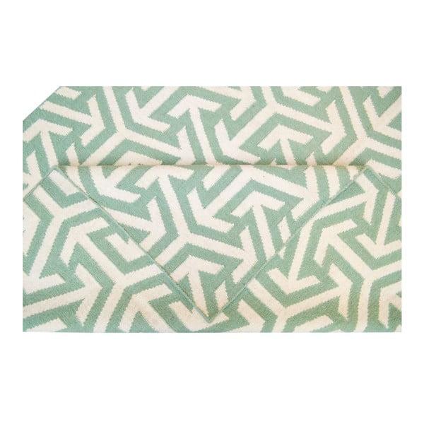 Ručně tkaný koberec Kilim 103 Green, 150x240 cm