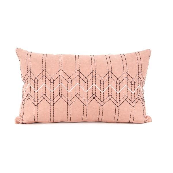 Pudrově růžový obdélníkový polštář s výplní PT LIVING Stitched