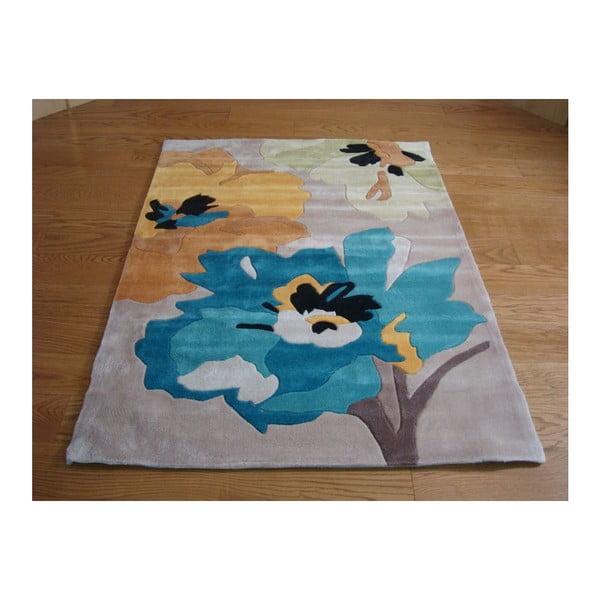 Koberec Bloom 120x170 cm, modrý