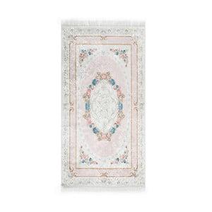 Covor din catifea Deri Dijital Maluna Powder, 80 x 150 cm