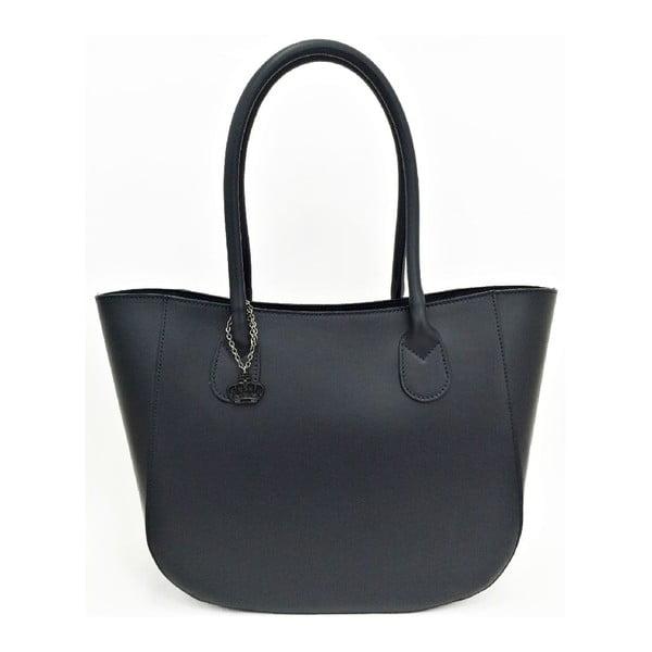 Kožená kabelka Mina Dark Blue