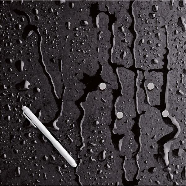 Magnetická tabule Eurographic Black Rain, 30x30cm