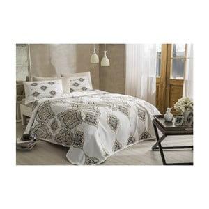 Set bavlněného přehozu, prostěradla a 2 povlaků na polštáře Penelope Cream, 200 x 230 cm