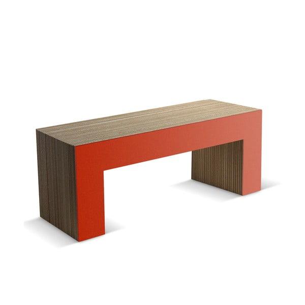 Kartonová lavice Panca Red, 120 cm