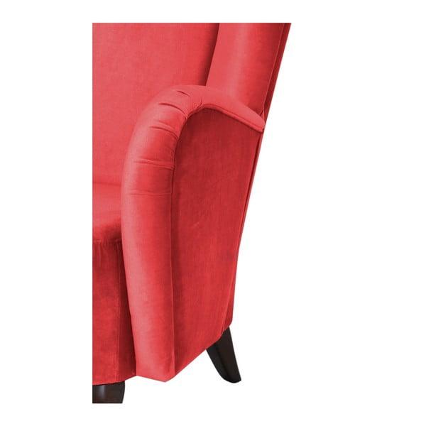 Červené křeslo Max Winzer Aurora Velvet