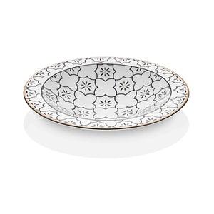 Černobílá miska z kostního porcelánu The Mia Maroc Marrakesh, ⌀ 30 cm