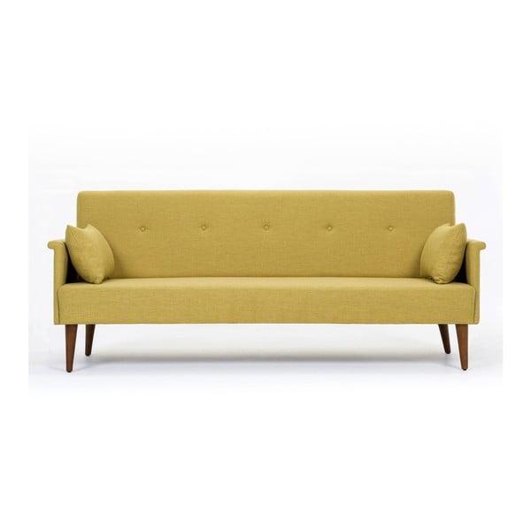 Canapea extensibilă Balcab Home Julia, galben