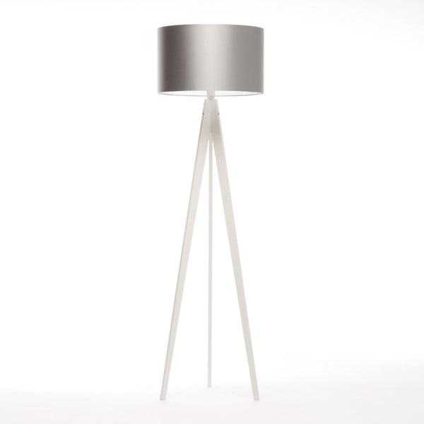 Stojací lampa Artist Silver/White Birch, 125x42 cm