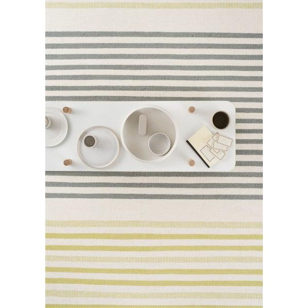 Ručně tkaný vlněný koberec Story Lime, 140x200cm