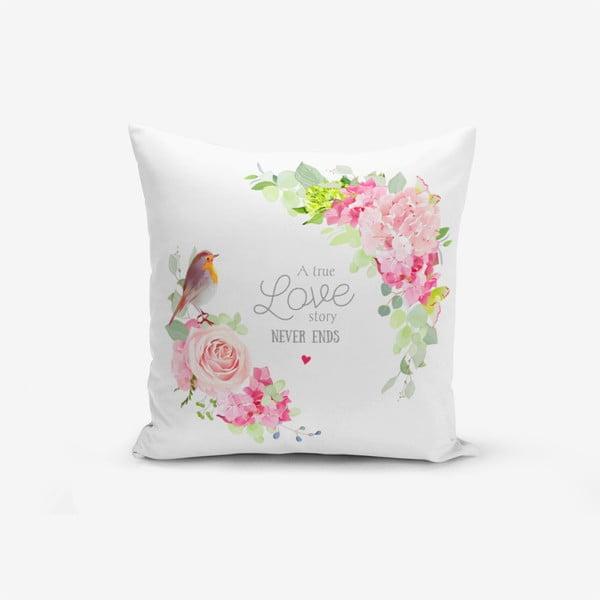 Față de pernă cu amestec din bumbac Minimalist Cushion Covers Bird A True Love Story, 45 x 45 cm
