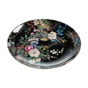 Talíř z kostního porcelánu Maxwell&Williams Kilburn Midnight Blossom, ⌀20 cm