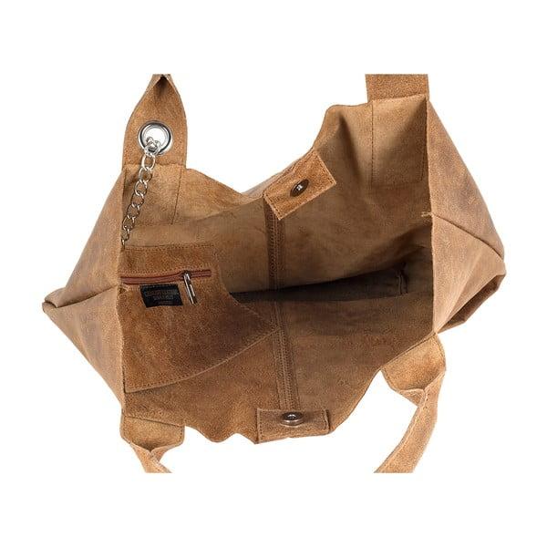 Medově hnědá kožená kabelka Ore Diece Laura