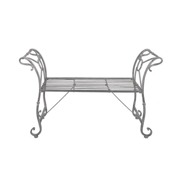 Lavice Metal Grey, 110 cm
