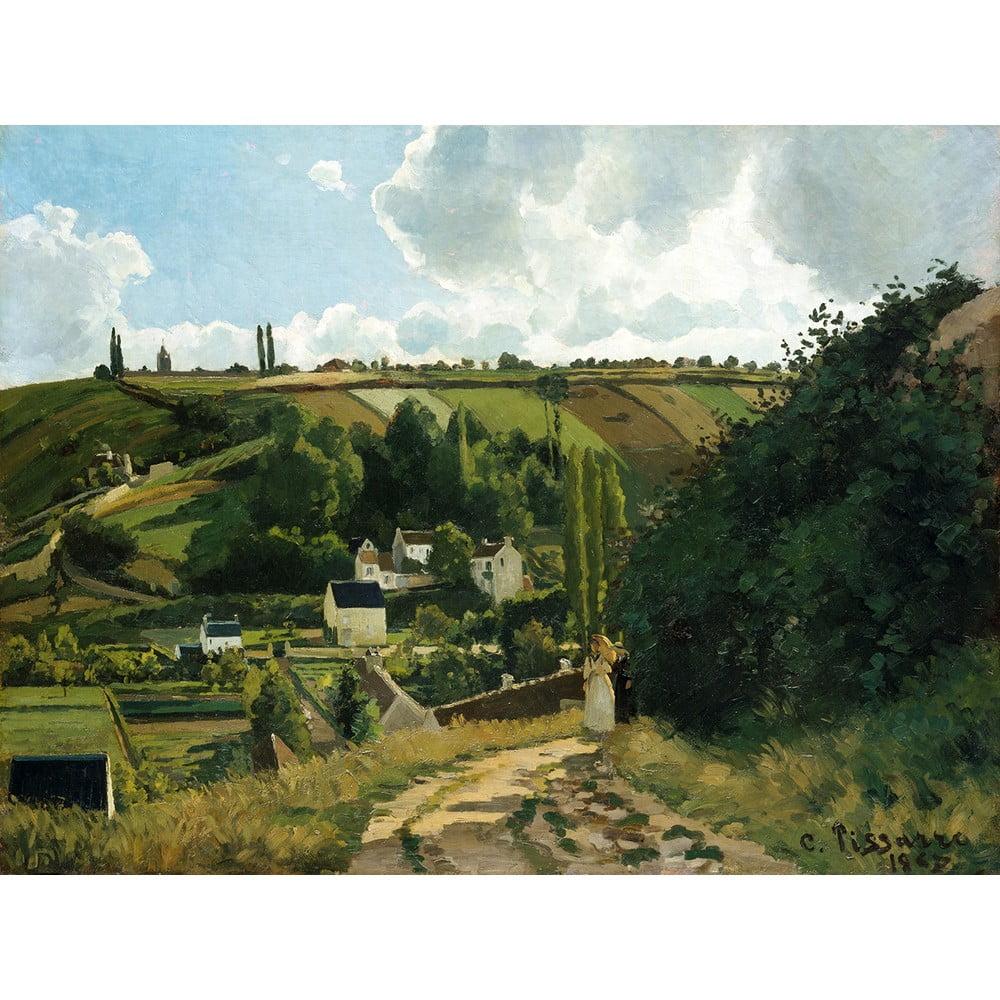 Reprodukce obrazu Camille Pissarro - Jalais Hill Pontoise, 80x60cm