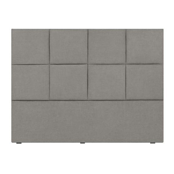 Světle šedé čelo postele Mazzini Sofas Barletta, 200 x 120 cm