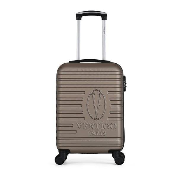 Hnědobéžový cestovní kufr na kolečkách VERTIGO Valises Cabine Cadenas