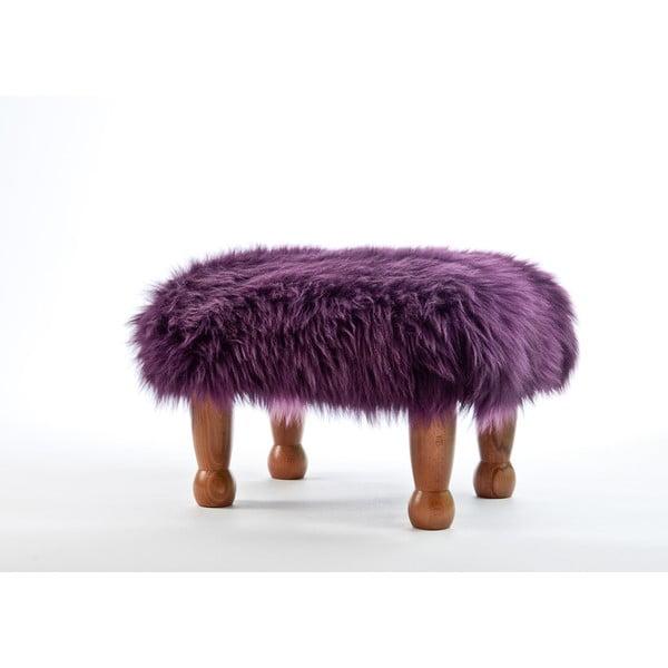 Stolička z ovčí kůže Anwen Aubergine