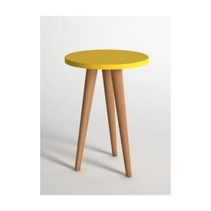 Žlutý odkládací stolek Monte Roma