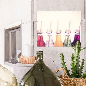 Skleněný obraz OrangeWallz Bottles, 40 x 50 cm