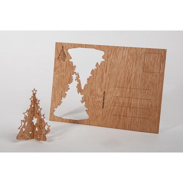 Drewniana kartka świąteczna Formes Berlin Choinka, 14,8x10,5 cm