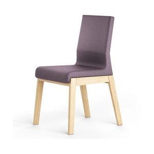Tmavě fialová židle z dubového dřeva Absynth Kyla