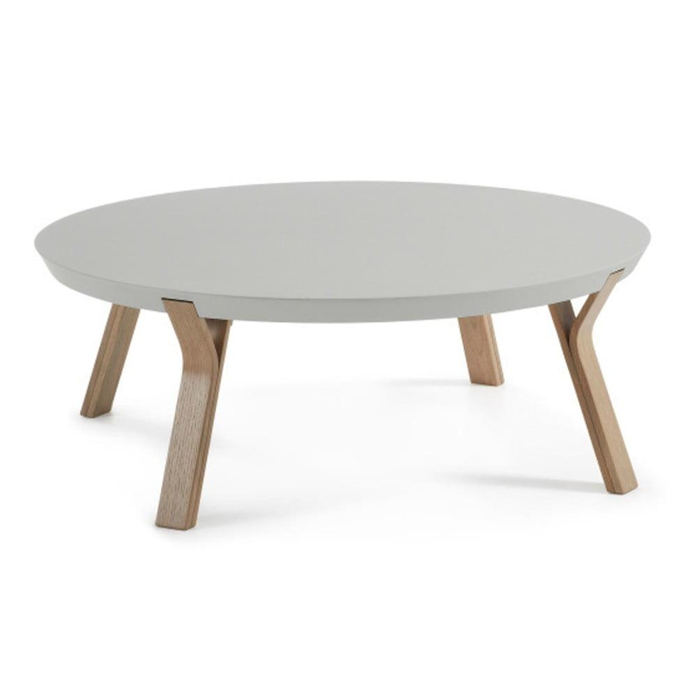 Světle šedý konferenční stolek La Forma Solid, Ø 90 cm