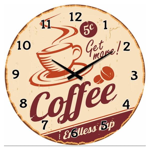 Skleněné hodiny Endless Cup, 34 cm
