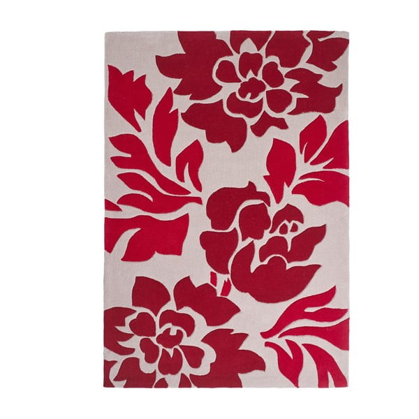 Červený koberec Think Rugs Hong Kong, 120x170 cm