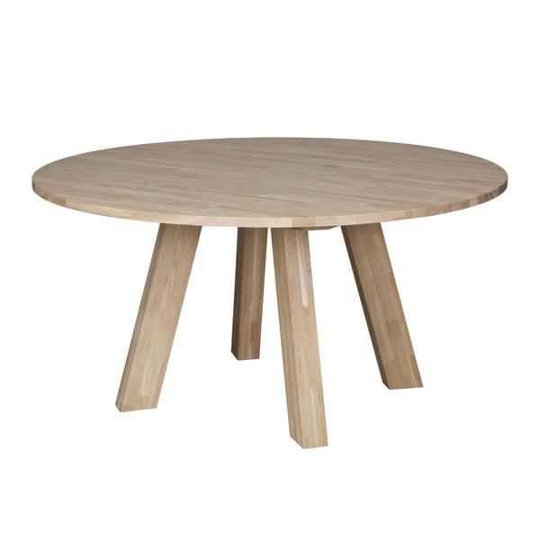 Rhonda tölgyfa étkezőasztal, ⌀ 150 cm - WOOOD