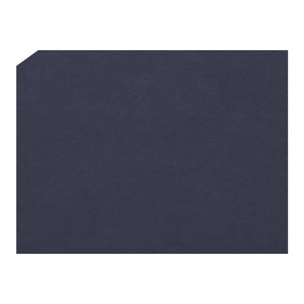 Otoman cu spaţiu depozitare Mazzini Sofas Ancona, 200 x 46 cm, albastru închis