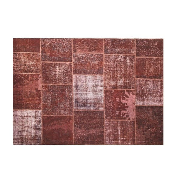 Vlněný koberec Allmode Brown Yan, 150x80 cm