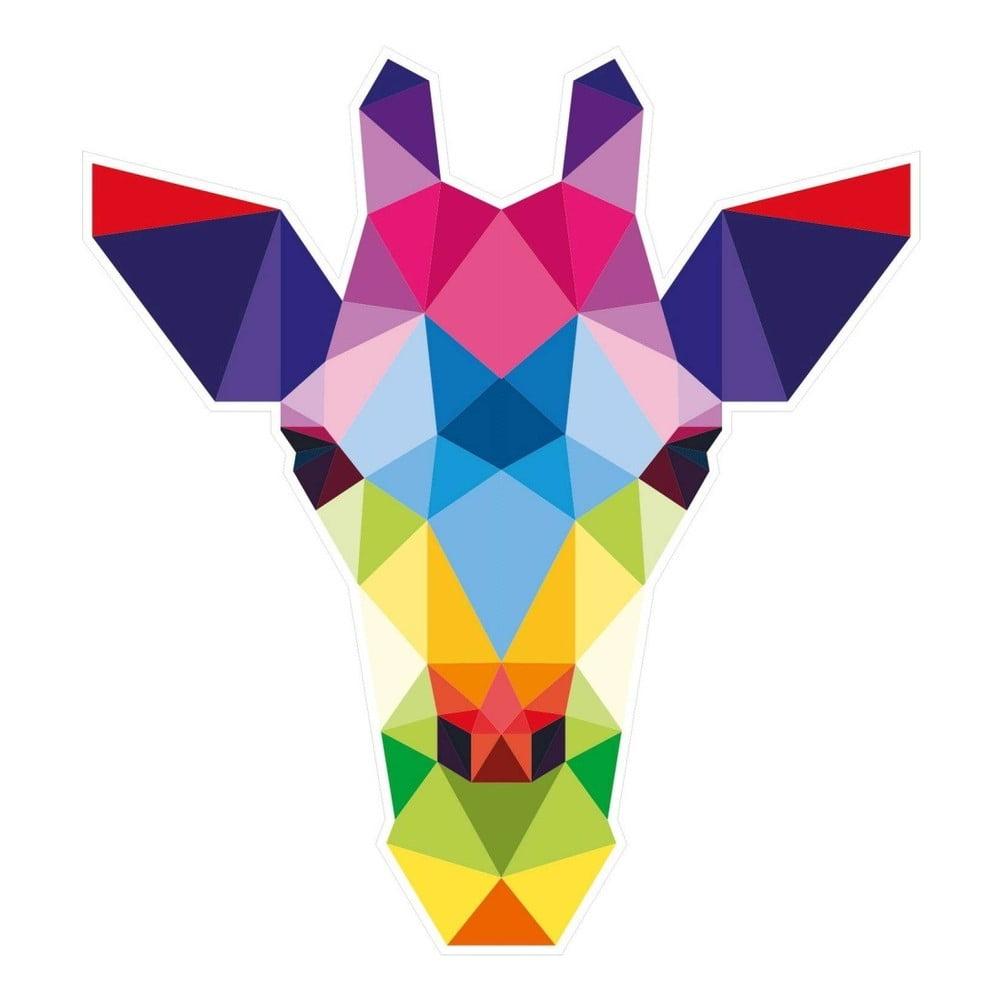 Nástěnná samolepka s geometrickým provedením Giraffe