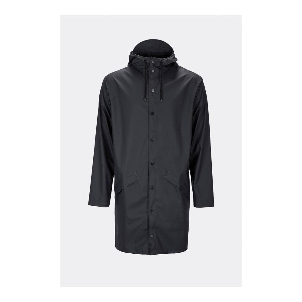 Černá unisex bunda s vysokou voděodolností Rains Long Jacket, velikost XS/S