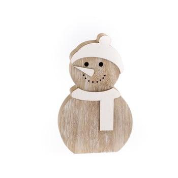 Decorațiune din lemn Dakls, înălțime 14,2 cm, om de zăpadă imagine