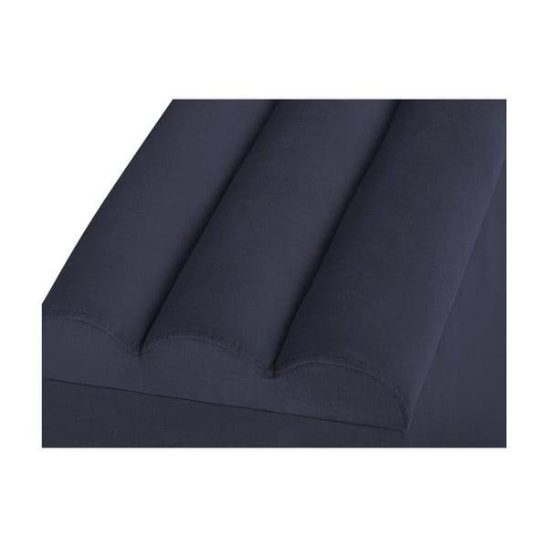 Tmavě modrý otoman s úložným prostorem Cosmopolitan Design LA, 160x47cm