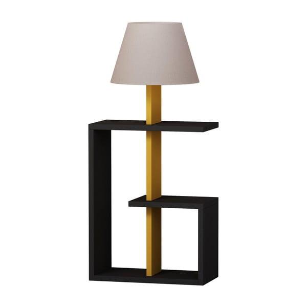 Antracitová volně stojící lampa Homitis Saly