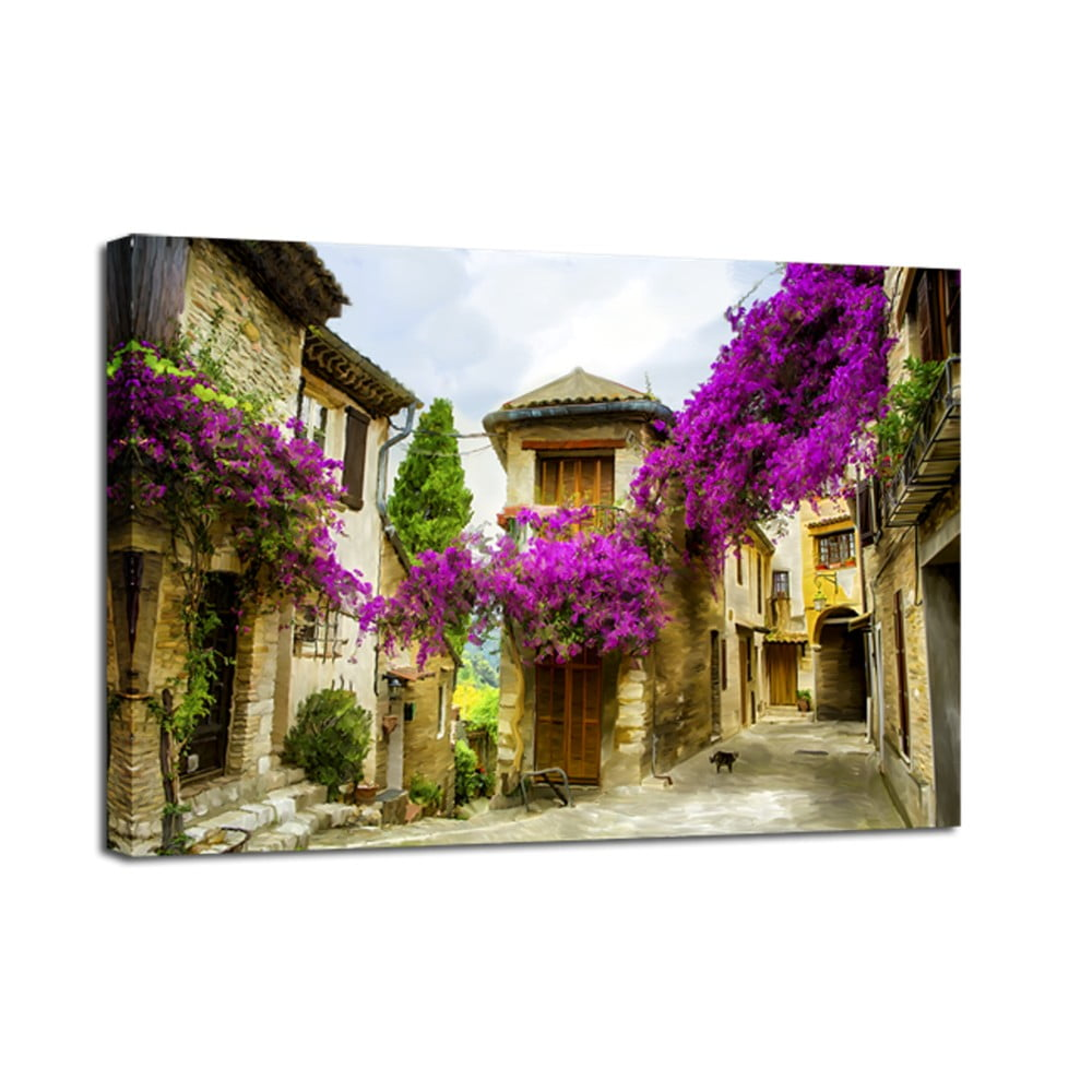 Obraz Styler Canvas Watercolor Old Town 75 x 100 cm