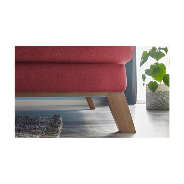 Červená třímístná pohovka s lenoškou Bobochic Paris Seattle, pravý roh